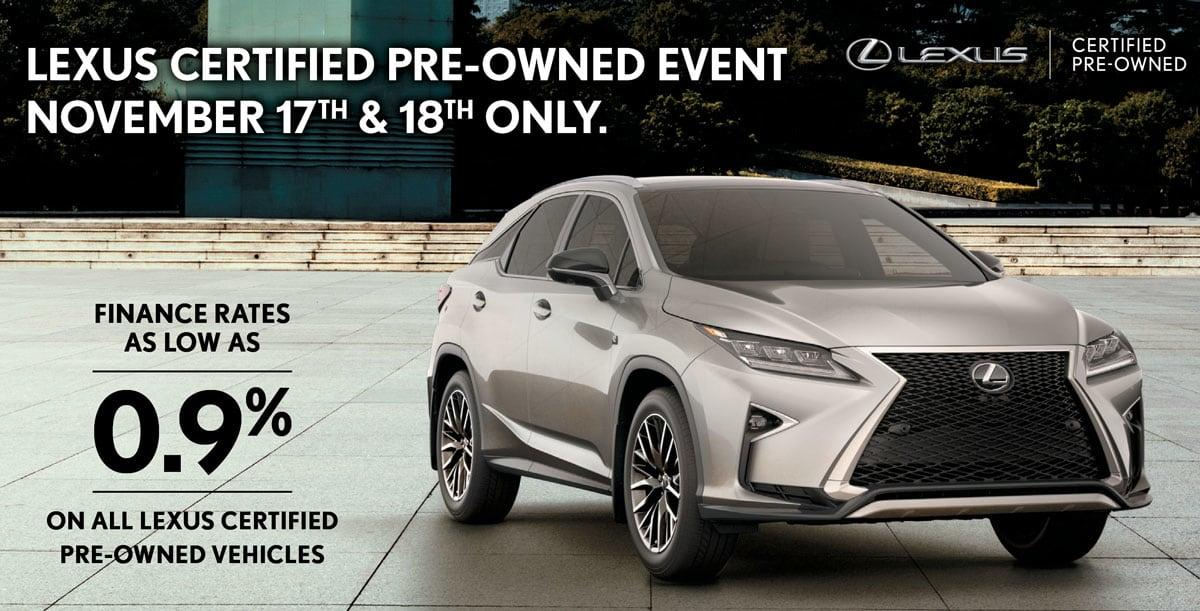 Pre Owned Lexus >> Lexus Certified Pre Owned Event Lexus On The Park